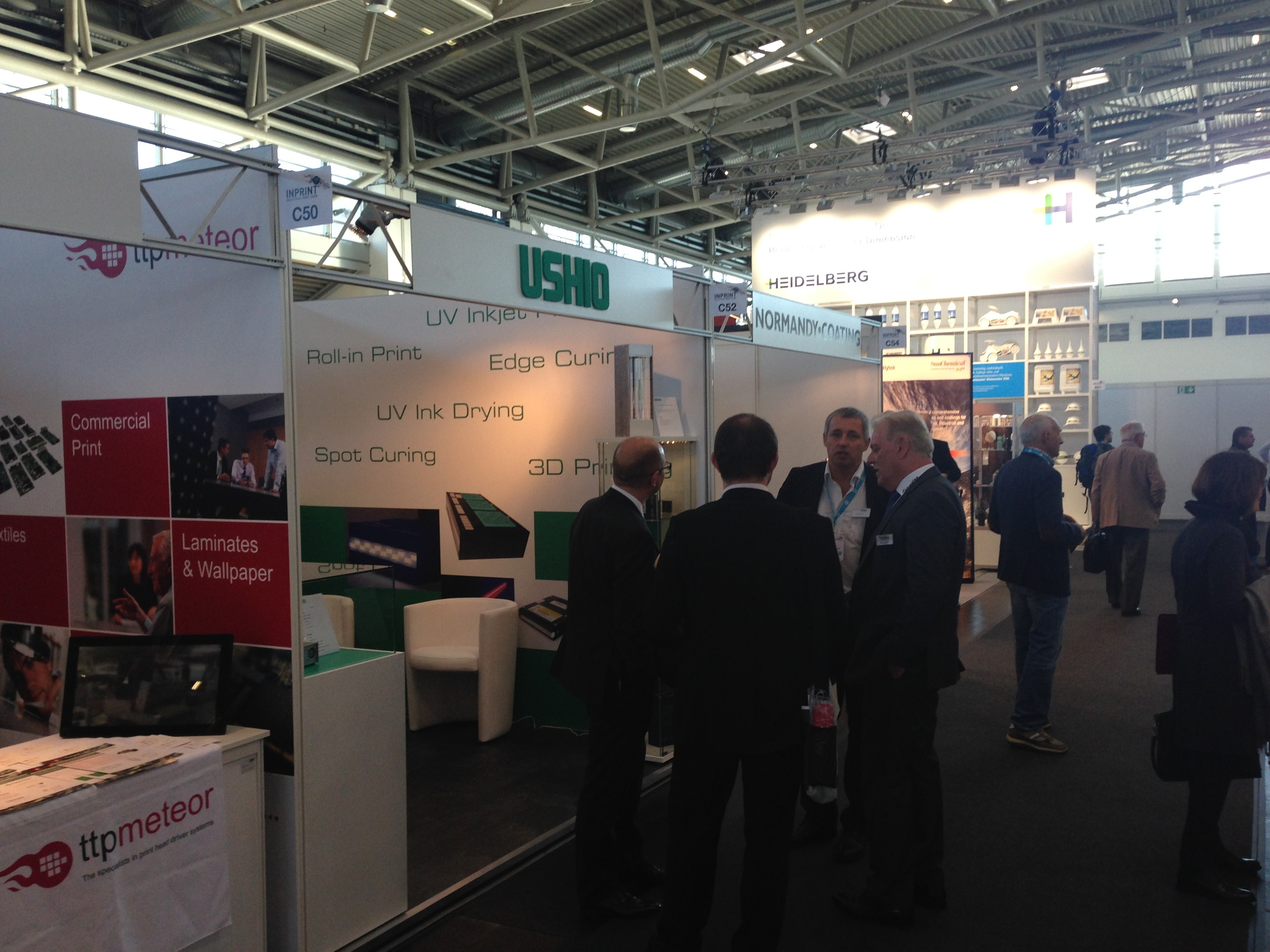USHIO´s UniJet UV LED curing systems a great success at this year InPrint in Munich Germany
