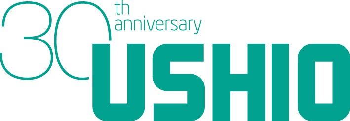 USHIO 30th Anniversary Logo