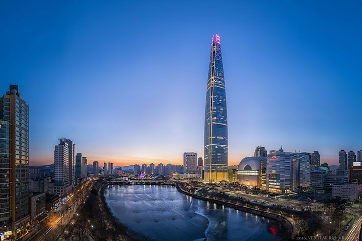 Ushio Lighting is the main Lighting Supplier for Lotte World Tower & Mall in South Korea