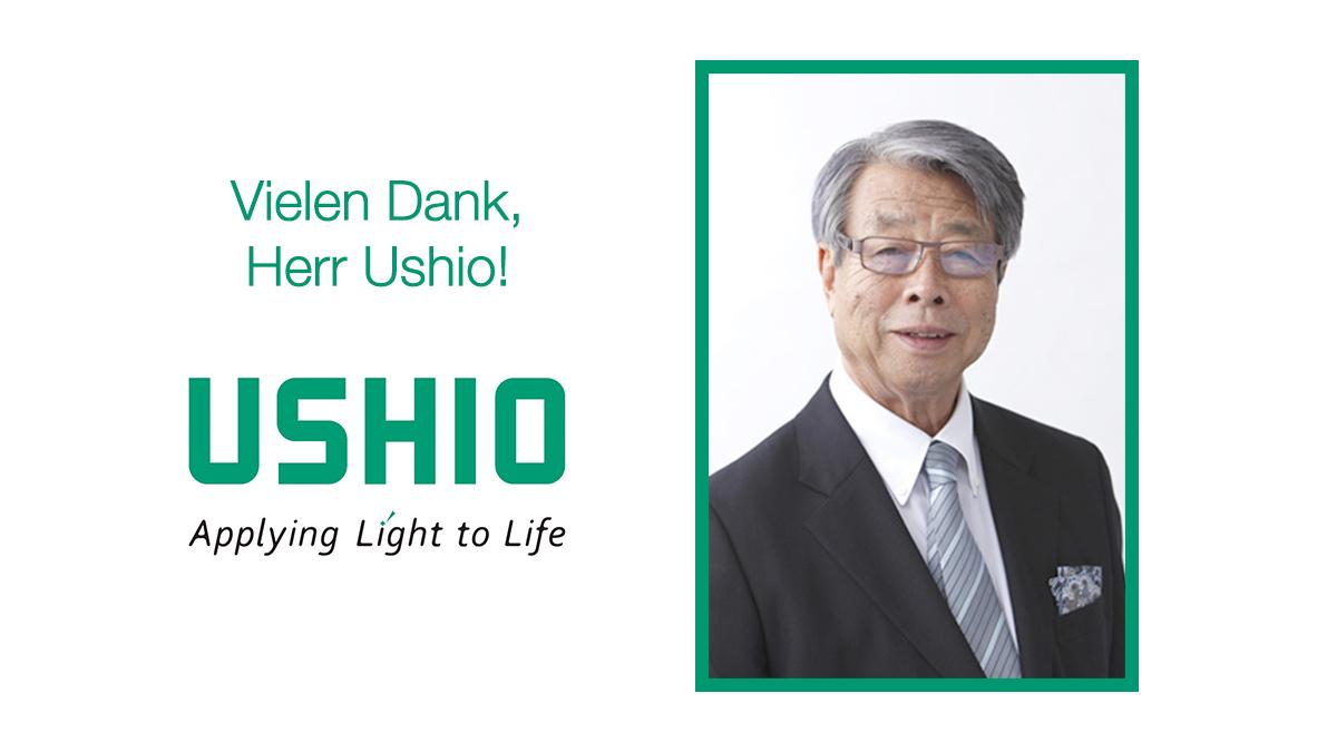 Vielen Danke, Herr Ushio