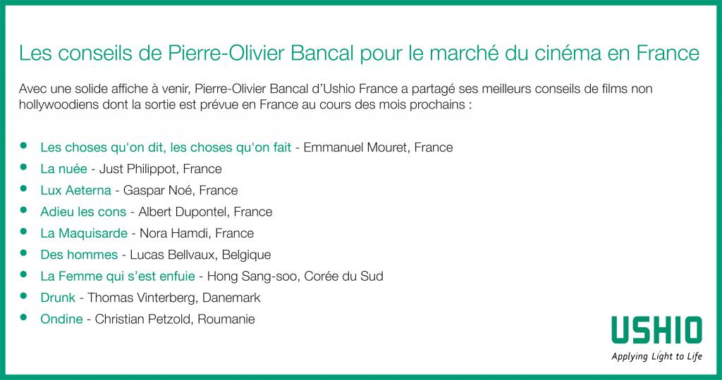 Les conseils de Pierre-Olivier Bancal pour le marché du cinéma en France