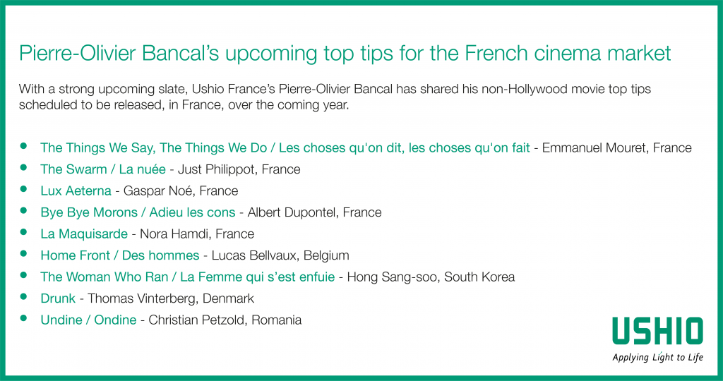 Ushio France's Pierre-Olivier Bancal has picked out his tips for movies hitting French cinemas in 2020/21